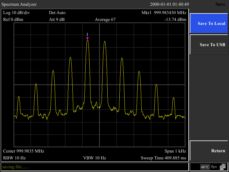 10 Hz Minimum Resolution Bandwidth (RBW)