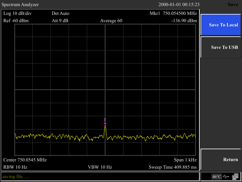 Measure -130dB small signal at 10Hz RBW